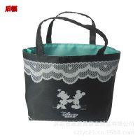 广告袋折叠帆布袋 卡通黑色手提礼品袋定做 畅销价格优惠