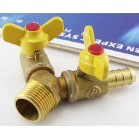 供应10mmY型黄铜煤气三通阀门接头煤气管分气开关液化气球阀燃气配件