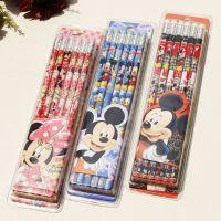 优乐米奇6121-12支装橡皮头铅笔 迪士尼卡通铅笔 HB铅笔文具