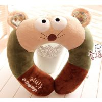 metoo咪兔 OK熊/兔子小猴可爱动物毛绒公仔 卡通U型护颈枕 礼物