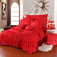 婚庆家纺 结婚用床品 提花四件套 绣花床品多件套