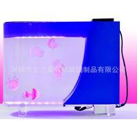 厂家直销亚克力小型迷你桌面水母缸 可变色有机玻璃水母缸