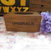 手工印刷木质纸巾盒纸盒包装家居松木杂货 厂价促销