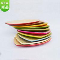 巨匠厂家定制天然环保原竹加工全手工彩色竹盘 竹制沙拉果盘