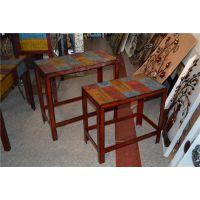 铁艺复古餐桌 怀旧主义铁皮桌子0068