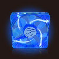 COOLCOX12厘12V米电脑主机机箱电源LED风扇 UV材质静音 正品特价