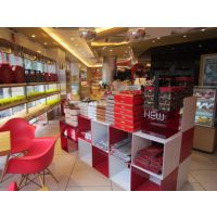 灵海展柜 供应【面包】展示柜,加工展柜,烤漆柜台销售