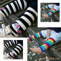 批发 汽车 儿童双色彩虹袜套/我爱妈妈款宝宝袜套 护膝0.05