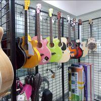 全新亚光漆乐器网架吉他展示架自由组合展示架挂网多用乐器配件