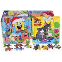 木质益智幼儿熊出没拼图板 木制16片宝宝早教拼图儿童玩具2-3-4岁