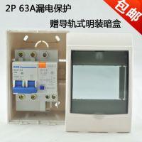 人民电工断路器 2P 63A空开带漏电小型断路器家用保护器厂家直销