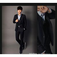 新款西服套装韩版修身西装伴郎服新郎服工作服职业正装三件套
