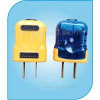 雅祥YM-C01 一体成型插头包胶防摔插头  纯铜电源插头批发厂