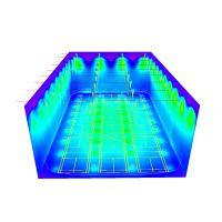 室内羽毛球场馆 照明灯具照度计算DIALux设计方案 专业球馆照明灯