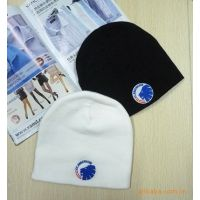 厂家直销 出口欧洲 男士加厚刺绣毛线帽 针织帽 尾货帽子批发60g