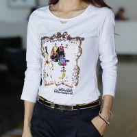 2014韩国时尚秋冬打底衫热销女式长袖新款长袖棉T恤热卖畅销货源