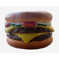 创意大号 汉堡包 面包 存钱罐 储钱罐 钱箱 搪胶玩具 礼品公仔