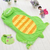 便携儿童睡袋可爱卡通四季通用床上用品幼儿园午睡宝宝防踢空调被