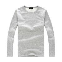2014新款男士秋冬纯色 V领 圆领 紧身保暖长袖T恤加厚加绒打底衫
