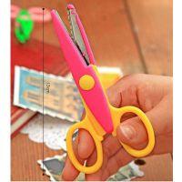 韩版手工照片花边剪刀DIY相册安全剪刀 儿童美术剪刀波浪剪纸工具