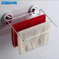 多杆毛巾架 真空无痕吸盘 不锈钢304挂件 置物架 浴室五金件