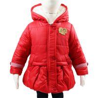 新款 2014年alooughe品牌童装女孩防雨绸加厚棉衣^冬款棉衣批发^