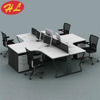 广州办公家具办公桌组合简约现代4人位职员电脑桌定做