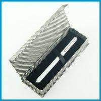 长形单支装纸盒 翻盖礼品包装盒  绒面纸包装盒 高档格子文具盒