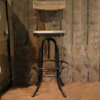 美式工业复古风实木吧台椅铁艺酒吧椅电脑椅可升降餐厅椅休闲椅子
