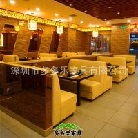 卡座餐厅沙发 米黄色卡座沙发任意选款式 承接连锁店工程