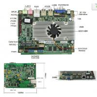 供应凌动n475/3.5寸/6.5W功耗低功耗主板/板载2G内存/支持双网卡/一体机主板