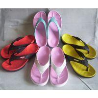 供应 夏季新款女式家居拖鞋 时尚糖果色撞色平底耐磨休闲人字拖鞋