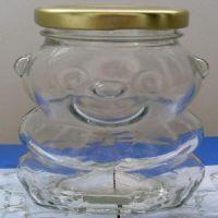 供应供应熊猫玻璃饮料瓶 蜂蜜瓶 果酱瓶 装饰品瓶 许愿瓶