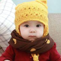 新款韩版儿童保暖围脖男女婴儿宝宝围巾围脖圆点糖果色围脖