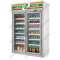 两门立式饮料展示柜、超市便利店放饮料冰箱生产厂家、士多店啤酒冷藏柜、雅绅宝牛奶保鲜设备、