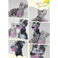 躺猫 搪胶玩具 站猫 儿童公仔 发泄玩具