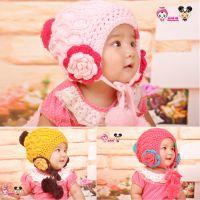 韩版儿童帽小女孩秋冬款针织帽婴儿毛线帽子批发女童小孩宝宝帽子