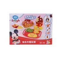 正品迪士尼儿童彩泥 3D彩泥蛋糕模具套装 宝宝玩具无毒不干橡皮泥