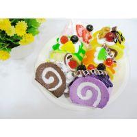 仿真果蔬蛋糕 模型 摄影道具 早教 娃娃家 PU奶油蛋糕卷