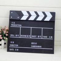 中英文电影场记板导演板木质电影打板拍板 影视黑色影楼拍照道具