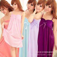 2014夏季冰丝睡裙吊带性感睡衣家居服 批发 一件代发 免费加盟