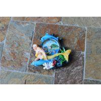 树脂卡通美人鱼冰箱贴 批发 家居装饰工艺品挂件0358