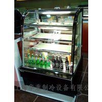 供应2014年新款蛋糕柜 大容量展示柜 单弧蛋糕保鲜柜 冷藏柜 寿司柜