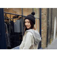 2014秋冬新款 女士麻花针织保暖帽 麻花绒球帽编织毛线帽  批发