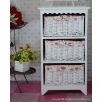田园风格白色实木儿童创意木质制床头收纳储物柜子系列抽屉式曹县