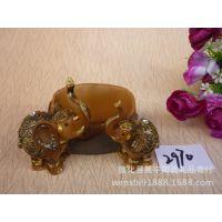 创意吉祥大象手机架树脂摆件结婚礼品镇宅招财欧式家居装饰A2970