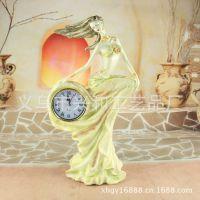 艺术座钟摆件 创意时尚树脂客厅座钟 欧式现代工艺品批发 XH410