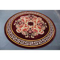 手工圆毯-羊毛编织-手工地毯