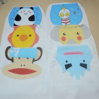 双层垫背巾 单条价 100%纯棉动物造型婴儿纱布吸汗巾 隔汗巾4层