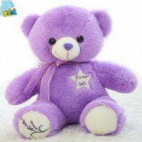 薰衣草小熊充电暖手宝热水袋泰迪熊公仔紫色抱抱熊一件代发